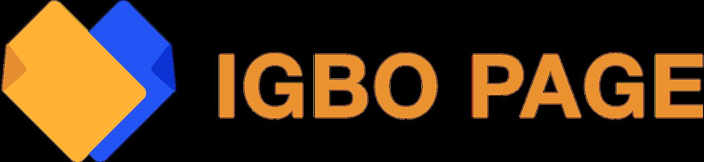 The IGBO PAGE Logo